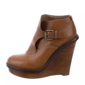 CHLOE 'KIMBERLY' WEDGE BUCKLED BOOTIE BOOTS $895!!